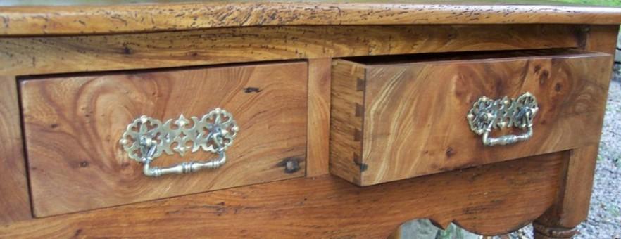 Reclaimed Elm Side Table